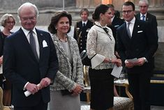 Newmyroyals: The Swedish Royal Family attended a seminar at the Royal Palace on the 200th anniversary of the Bernadotte Family, which has been Sweden's Royal Family since 1818-King Carl Gustaf, Queen Silvia, Crown Princess Victoria and Prince Daniel