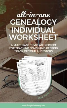 All-in-one genealogy worksheet free download