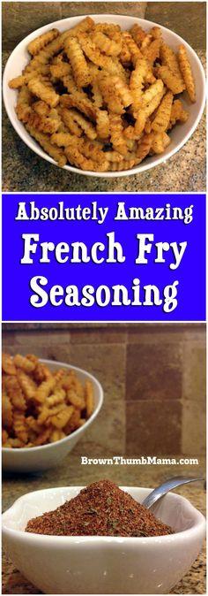Amazing French Fry Seasoning: BrownThumbMama.com
