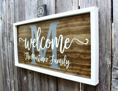 Family Name Sign Welcome Sign Welcome Sign for Family Family Welcome Sign Family Coordinates DIY Wood Signs Coordinates family Sign Wood Signs For Home, Diy Wood Signs, Vinyl Signs, Pallet Signs, Wood Stencil Signs, Wooden Family Name Sign, Family Name Signs, Family Wood Signs, Last Name Signs