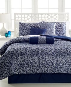 Alena 7 Piece Jacquard Comforter Sets - Bed in a Bag - Bed & Bath - Macy's