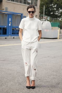 Madelynn Furlong on all white
