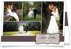 Enchanted Encounter Thank You Cards #wedding #multiphoto #classic