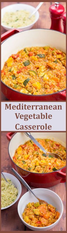 This delicious one pot family Mediterranean vegetable casserole is packed full of flavour, with loads of healthy veggies and is also extremely filling and satisfying. via @neilhealthymeal