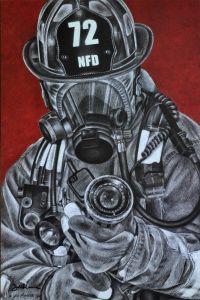 Assault Print by Firefighter Artist Jodi Monroe