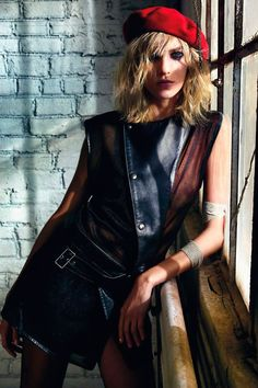 Anja Rubik | Photography by Mario Sorrenti | For Vogue Magazine France | February 2013