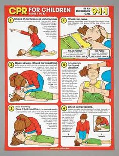 In the United States, two boys who used to line up against a wall that had a poster like this one up in the cafeteria to wait for the school bus would end up remembering it and helping a women to save her baby's life by walking her through the steps of CPR. You may never know the importance of having a CPR poster like this one up on the wall.