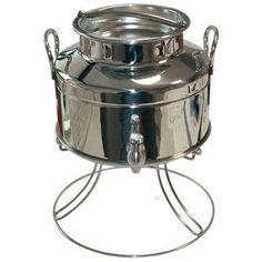 Dispenser per olio, 3l, in acciaio inox 18/10, con pratico rubinetto regolatore/salvagocce.