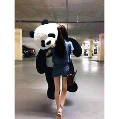 Christmas/Birthday gift Giant Huge Big Panda/bear Stuffed Plush Animal Toy<<I wish someone would buy this for me Huge Teddy Bears, Giant Teddy Bear, Big Panda, Cute Panda, Panda Mignon, Giant Stuffed Animals, Stuffed Toy, Teddy Girl, Panda Wallpapers