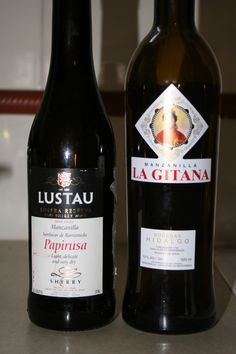 Lustau and La Gitana Manzanilla Sherry - if you think you don't like Sherry, then you need to take another look. One of the great alcoholic drinks, one which perfectly matches freshly grilled sardines (or another oily fish).