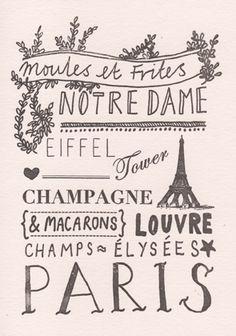 apsveikuma kartīte/ Paris www.katieleamon.com