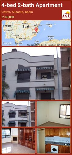 Apartment for Sale in Catral, Alicante, Spain with 4 bedrooms, 2 bathrooms - A Spanish Life Spanish Towns, Alicante Spain, Apartments For Sale, Bath, Traditional, Bedroom, Home Decor, Bathing, Decoration Home