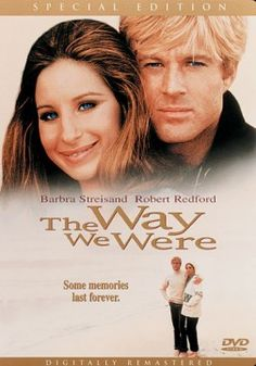 The Way We Were, Stars Robert Redford and Barbra Streisand. Robert Redford became a full-fledged heartthrob as a result of this movie. The Great Gatsby Movie, Love Movie, I Movie, Movie Stars, Barbra Streisand Robert Redford, Barbara Streisand, Film Music Books, Music Tv, Image Film