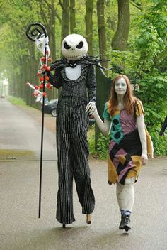 Awesome costumes. Love the stilts!