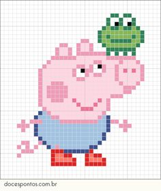 Thrilling Designing Your Own Cross Stitch Embroidery Patterns Ideas. Exhilarating Designing Your Own Cross Stitch Embroidery Patterns Ideas. Peppa Pig, Crochet Pixel, Crochet Chart, Beaded Cross Stitch, Cross Stitch Embroidery, Hand Embroidery, Cross Stitch Designs, Cross Stitch Patterns, Beading Patterns
