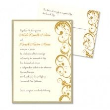 Amber 2-Layer Wedding Invitations - MyGatsby Invitations