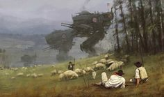 With his retro-futuristic illustrations, the artist Jakub Rozalski, aka Mr. Werewolf, imagines a dark and scary past, populated by war machines and giant robot