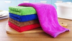 10 pieces Coral velvet Towels Set Kitchen Dish Cloths Cleaning Drying 16052603
