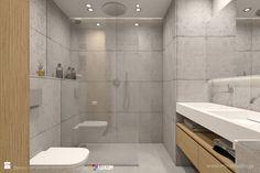 Nowoczesna łazienka - minimalistyczna aranżacja z betonem architektonicznym i umywalką podwójną na miarę - zdjęcie od Luxum - Łazienka - Styl Minimalistyczny - Luxum