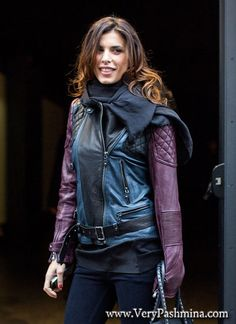 #ElisabettaCanalis Wears A Black Infinity #Scarf At Diesel Black Gold Fashion Show