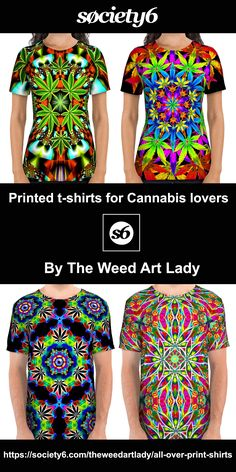 Hello my fellow stoner friends! My art is now available to purchase on Society6 in the form of high quality printed products! These awesome t-shirts are just $36, you can check them out here: https://society6.com/theweedartlady/all-over-print-shirts