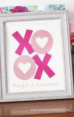 Valentine's Day Foil Print