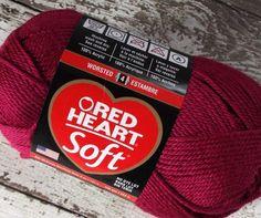 NEW Red Heart Soft #Yarn Berry Red acrylic 256yds 5 oz medium weight fiber #knitting #crochet