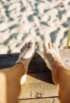 happy beach feet
