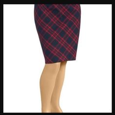 Old Navy plus size plaid skirt. Old Navy plus size plaid skirt/pencil skirts. Size 20! NWT! Olive and navy blue. Size zipper. 97%cotton and 3% spandex. Old Navy Skirts Pencil