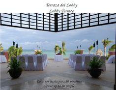 Lobby terrace ceremony in green