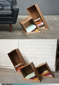 Kinda cool for current or soon to be read books that I want to keep right next to the reading chair.
