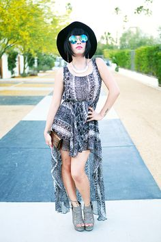 Street-Style From Coachella, Pool-Party Edition
