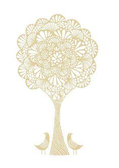 Crochet Tree in Beige by Sugarloop on Etsy