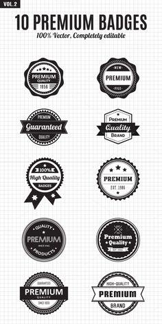 10 Premium Vintage Badges & Labels by Seceme Shop on Creative Market