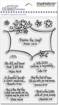 Inspired Verse Set - Stampendous Perfectly Clear Stamps