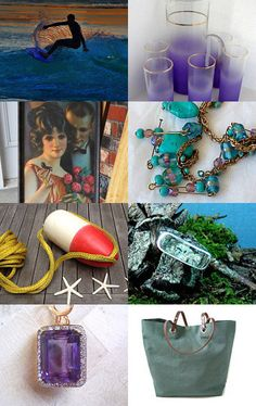 Two of our items - our mint green metal rocker & our vintage leather luggage - were featured here!