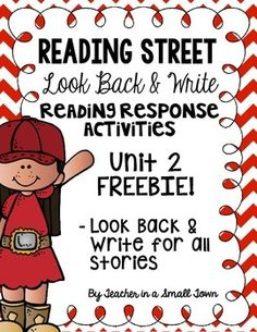 Enjoy this FREE resource I created to be used with the 4th grade Reading Street series. Included in this download are recording sheets to be used with the reading response activity at the end of each selection for Unit 2. :)Please leave feedback and follow me for future product updates!