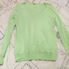 J.Crew light green, light weight v-neck sweater Bought from another posher. Perfect condition, soft, and light. I am re-pushing because the color doesn't blend well with my complexion. It's perfect condition. No holes, rips, stains. Size medium. V-neck J. Crew Sweaters V-Necks