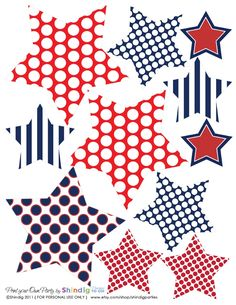 4th of July Printables :-). So many things I could make with this!