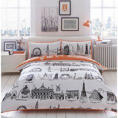 Ben de Lisi Home Cream 'City Scene' bedding set   Debenhams