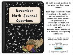 First Grade Fanatics Math Journal Prompts