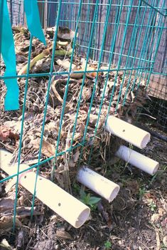 Drill holes throughout PVC pipes and then place them through the compost cage. The flow of air can speed up the decomposition process