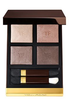 Totally obsessed with the 'Nude Dip' Tom Ford eyeshadow quad! All four shimmery shades allow for a range of looks of looks from bold to smoky, or sexy to subtle.