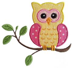 Owl on the branch Applique Machine Embroidery by JoyousEmbroidery, $2.99