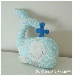 Hochet à grelot Baleine pour bébé garçon