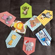 Bandeirolas Safari Jungle Theme Birthday, Jungle Party, Safari Party, Baby Party, Kids Party Decorations, Party Themes, Baby Shower Themes, Baby Shower Gifts, Baby Decor