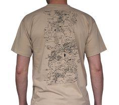 T-Shirt Game of Thrones beige Carte de Westeros