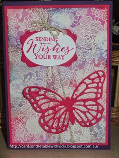 Cards on the table with Vicki: Stampin Up Something Lacy