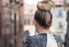 Sock buns. One day my hair will be long enough for this.