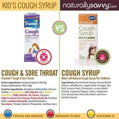 Yikes! Did you know children's cough formulas can contain Scary Seven ingredients like artificial colors, artificial sweeteners, and high-fructose corn syrup? Research does shows that these ingredients are harmful to our bodies. Instead try Maty's Healthy Products: Cough Syrup for Children that has ingredients to sooth your child's cough and boost their immune system to help them feel better sooner.